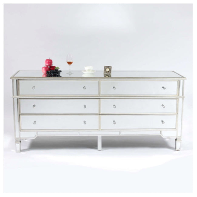 Valencia 6 chest of drawers antique silver