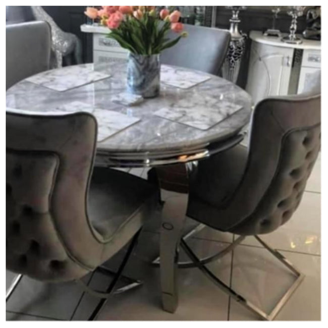 Oxford marble table with Bentley chairs