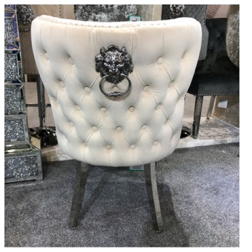 Valentino lion knock chairs different colour options Available