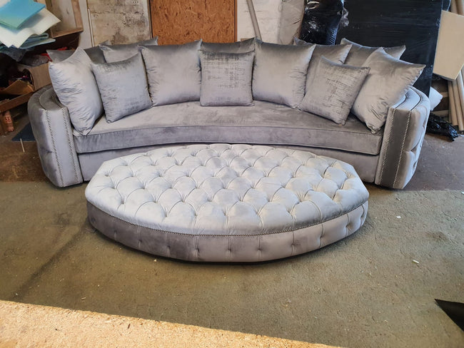 Curved London luxury sofa.