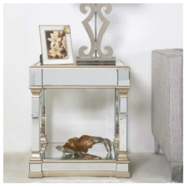 Venice mirrored side table