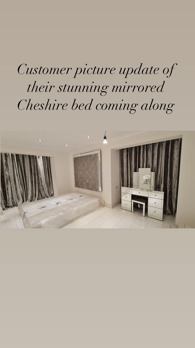 Mirrored cheshire bed.