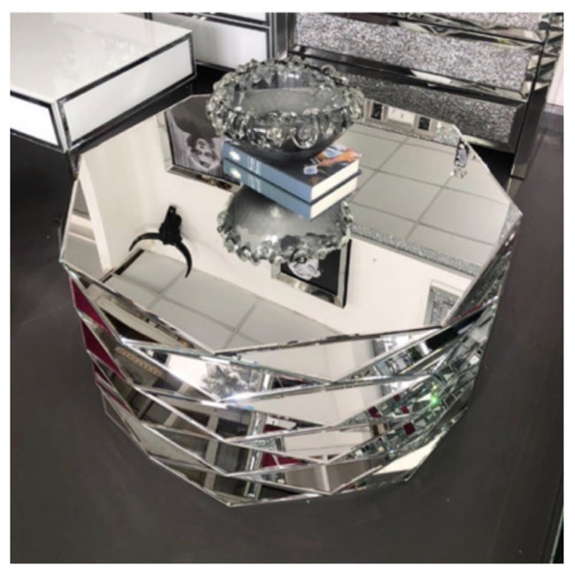 Lara mirrored coffee table.