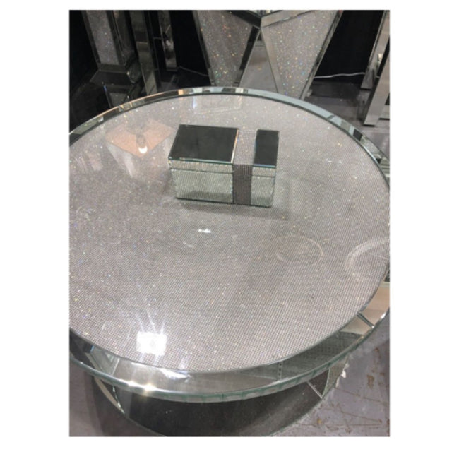 Glamour sparkle round coffee table