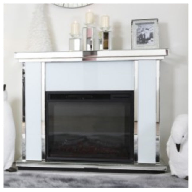 White atlanta fire place