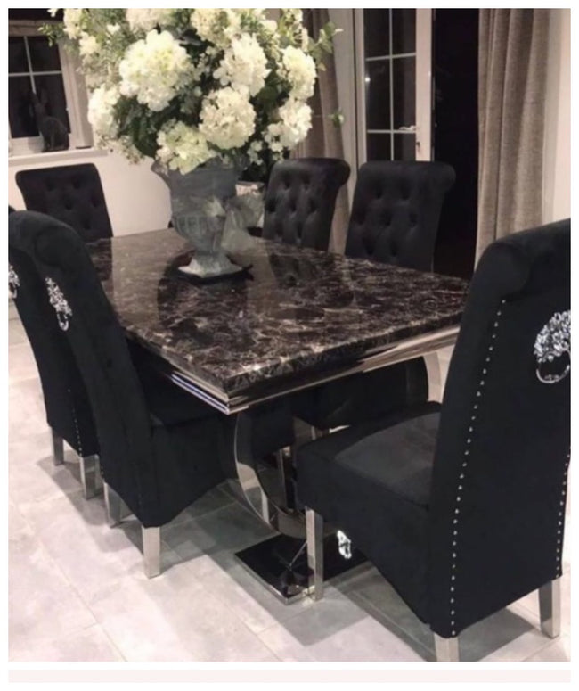 Black marble Buxford table