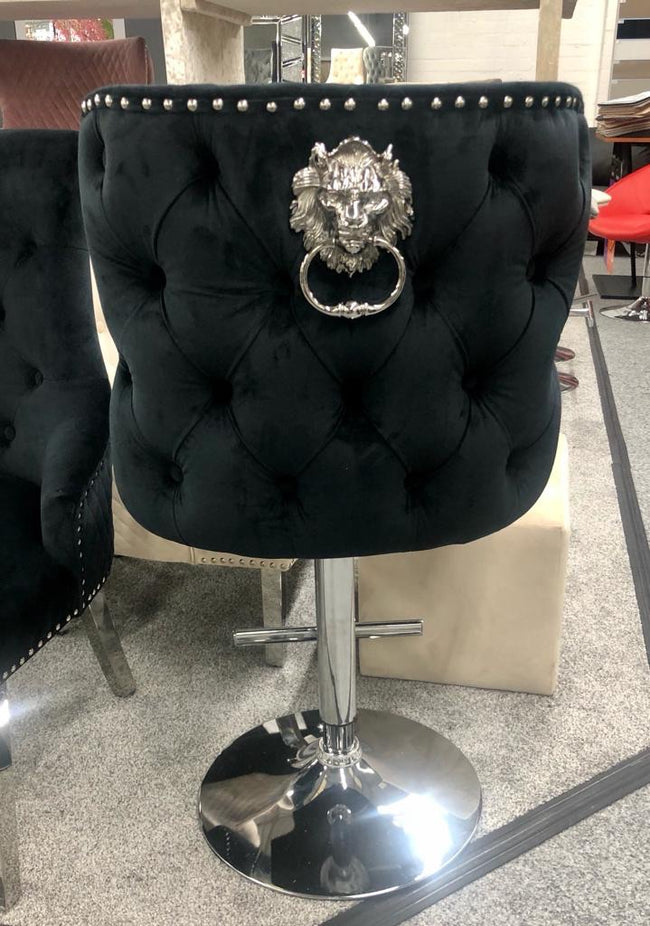 Valentino lion knock bar stools different colour options available