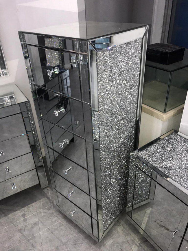 Elegance Crushed diamond Tallboy unit