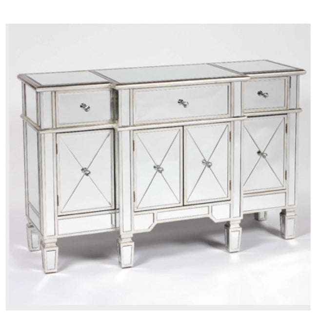 Valencia antique silver side cabinet