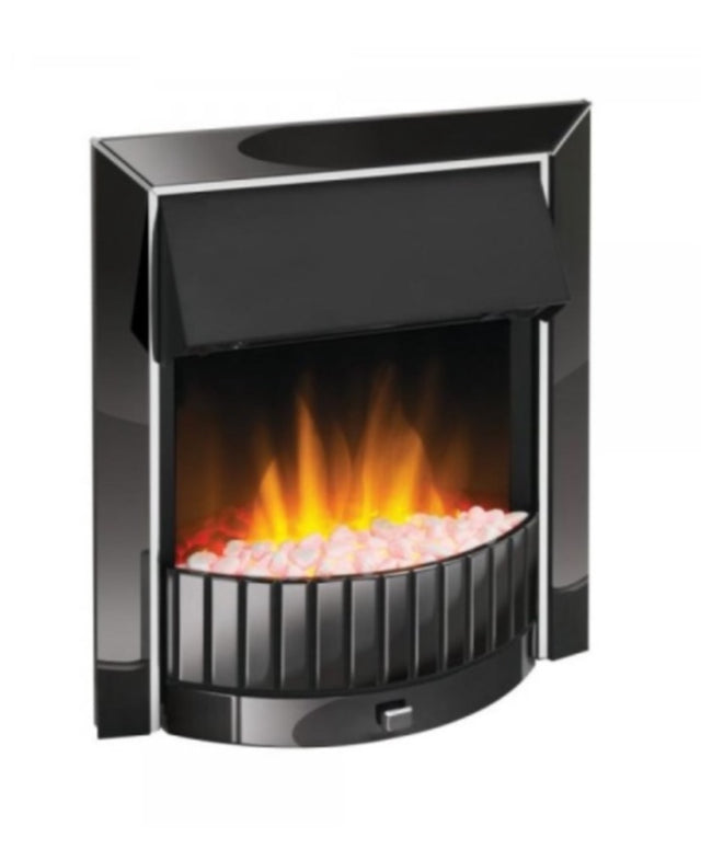 Black deluxe fireplace