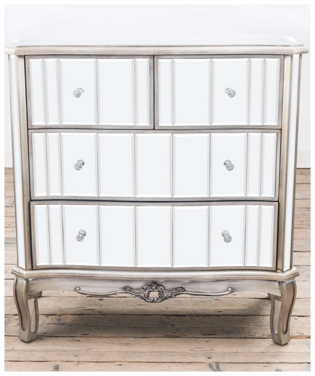 Anna antique silver french chest of drawers