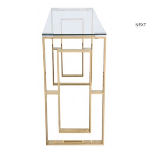 Lara gold apex style console table
