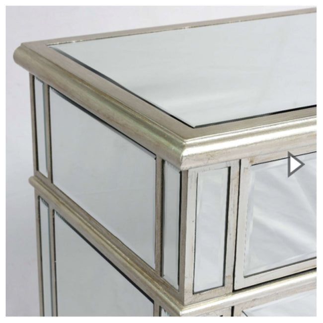 Valencia bedside drawers antique silver