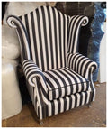 High Back glamour wing chair