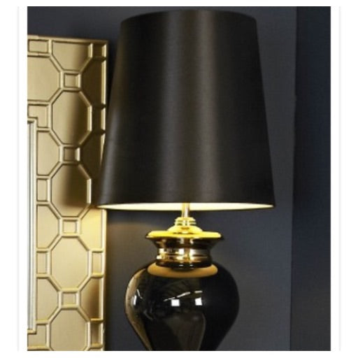 Black pearl glass lamp