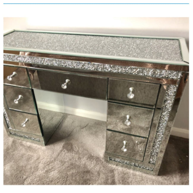 Crushed diamond top 7 drawers dressing table