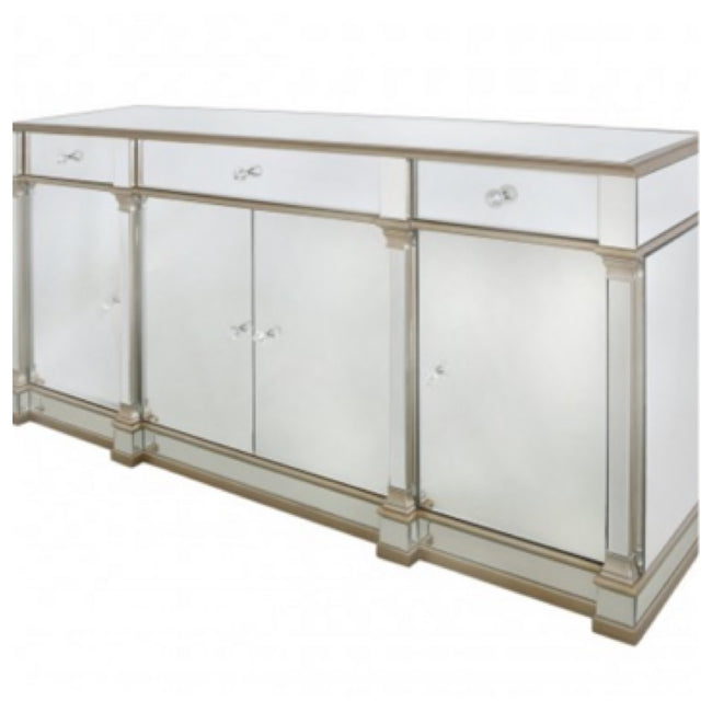 Venice 4 door 3 drawer sideboard cabinet.