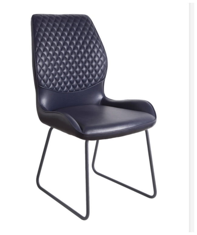 Jed Black faux leather dining chair