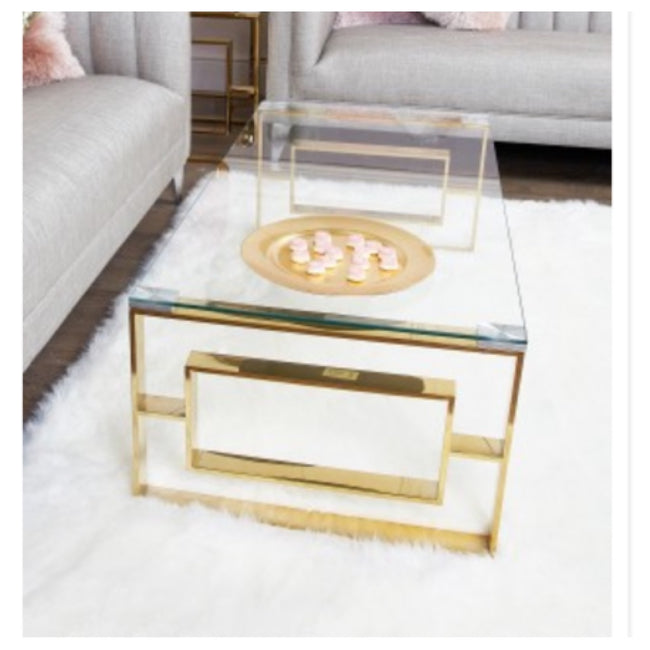 Lara gold apex style coffee table