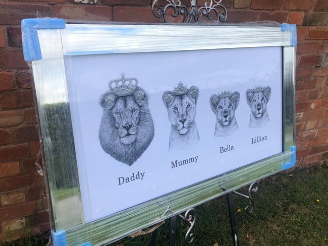 The family lion picture