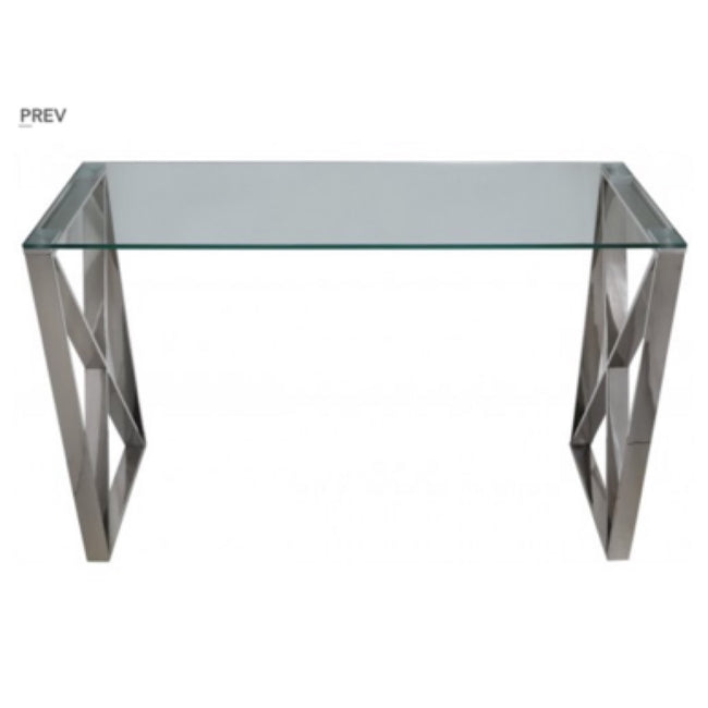 Diego silver console table