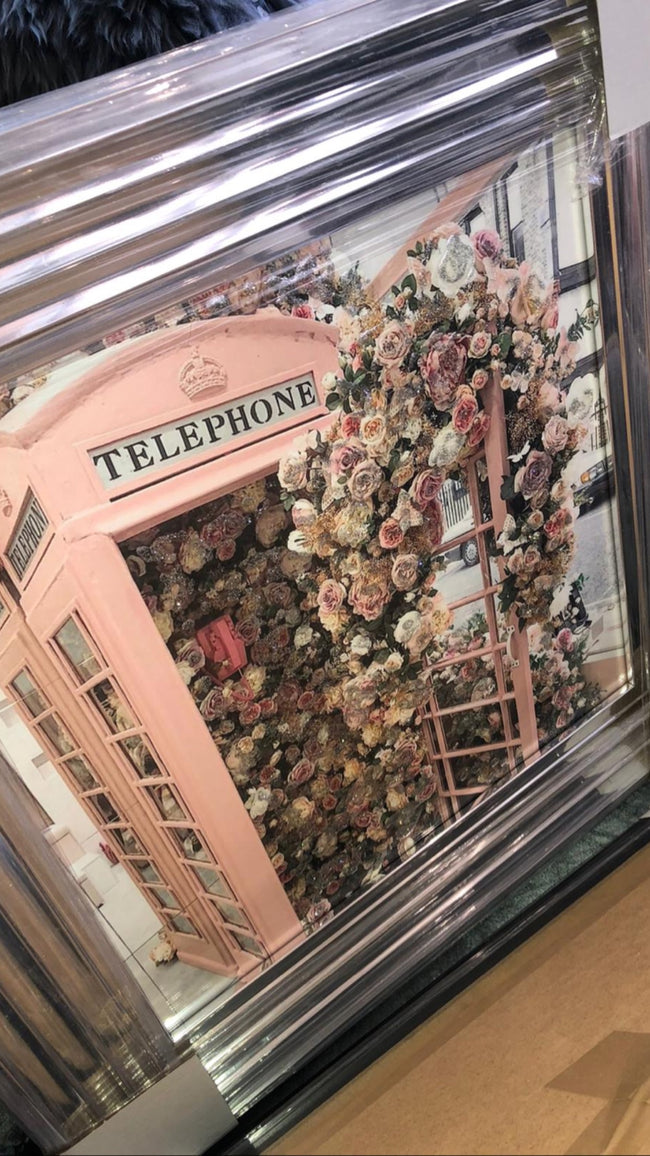Stunning 3d flowered telephone box