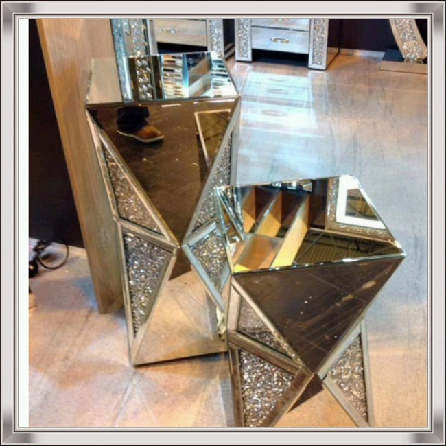 Crushed Diamond pedestals 80cm