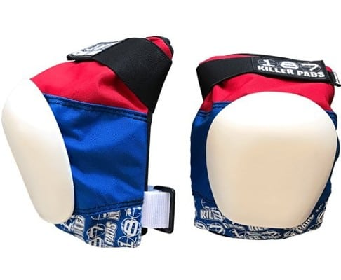 Proteccion Pro Knee Pad Red White Blue