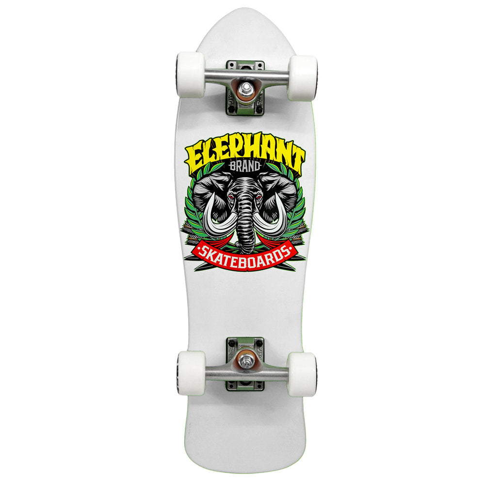 Street Axe Black Mini Cruiser white 8.25 x 28