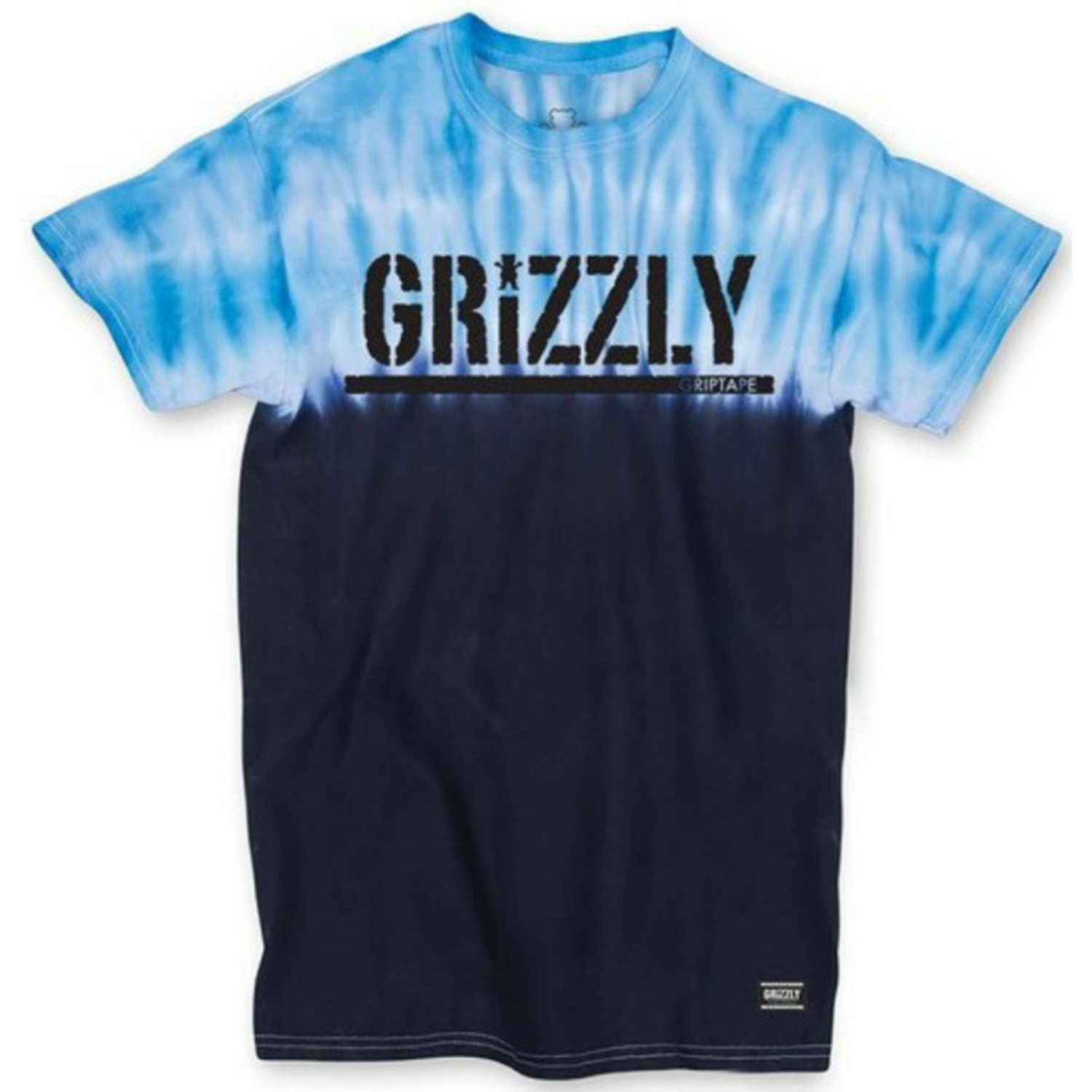 Grizzly Fire Blue Tie Dye