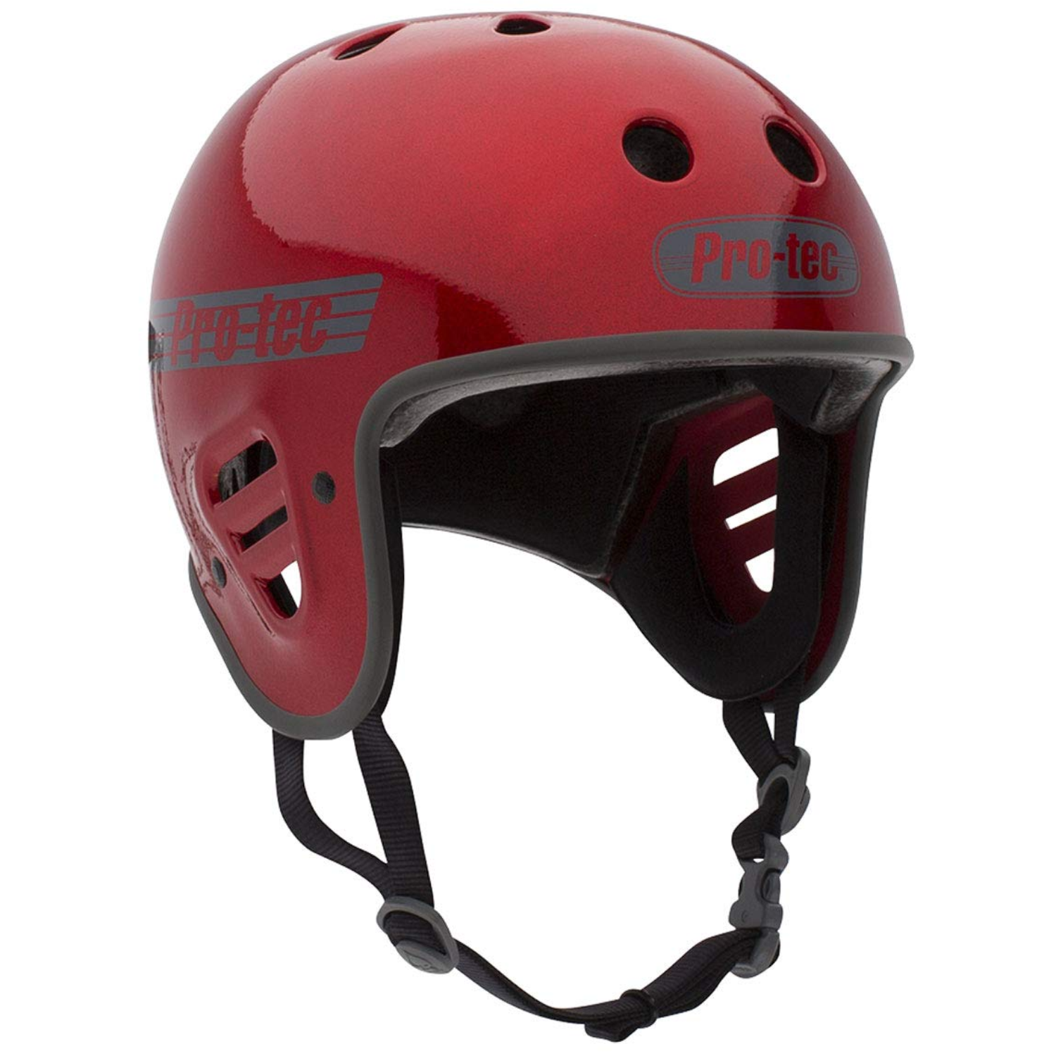 Casco Pro-tec Full Cut red metal flake