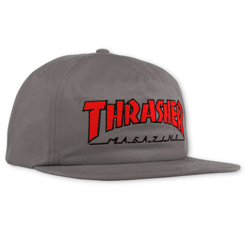 Gorra Thrasher Outlined grey/red