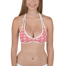 Load image into Gallery viewer, Team Blackout Pink TBO Drip Bikini Top