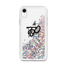 Load image into Gallery viewer, Team Blackout Liquid Glitter iPhone Case
