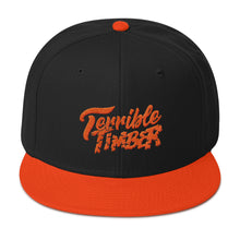 Load image into Gallery viewer, TBO x Terrible Timber Snapback Hat (Black or Black/Orange)