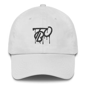 White TBO Drip Dad Hat