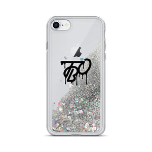 Team Blackout Liquid Glitter iPhone Case