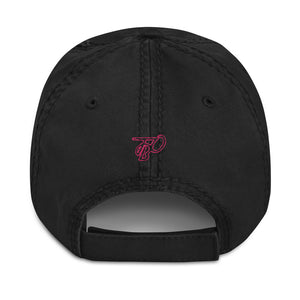 Team Blackout Neon Dreams Pink Distressed Dad Hat