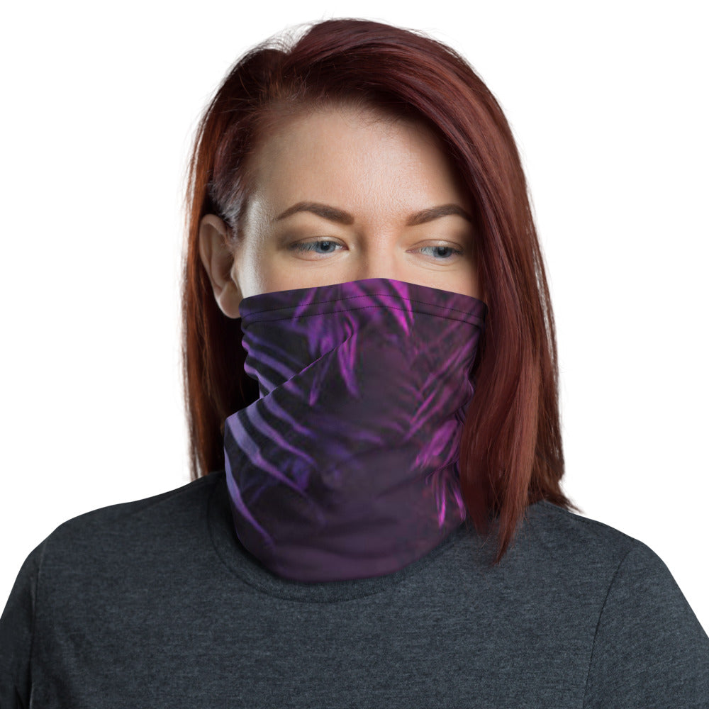 TBO Limited Edition Purple Holographic Neck Gaiter Face Mask Shield