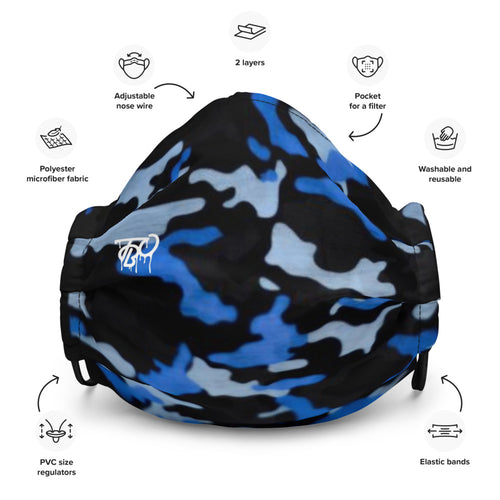 TBO Limited Edition Blu Camo Face Mask