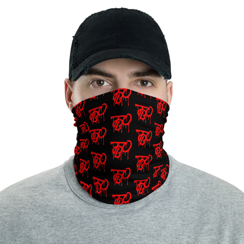 Team Blackout Blood Clout Buff Drip Logo Neck Gaiter