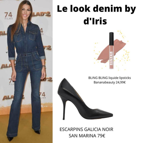 Iris en full denim, la combi qui claque