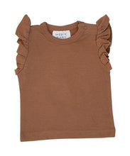 Load image into Gallery viewer, Honey Ruffle Cotton Tee