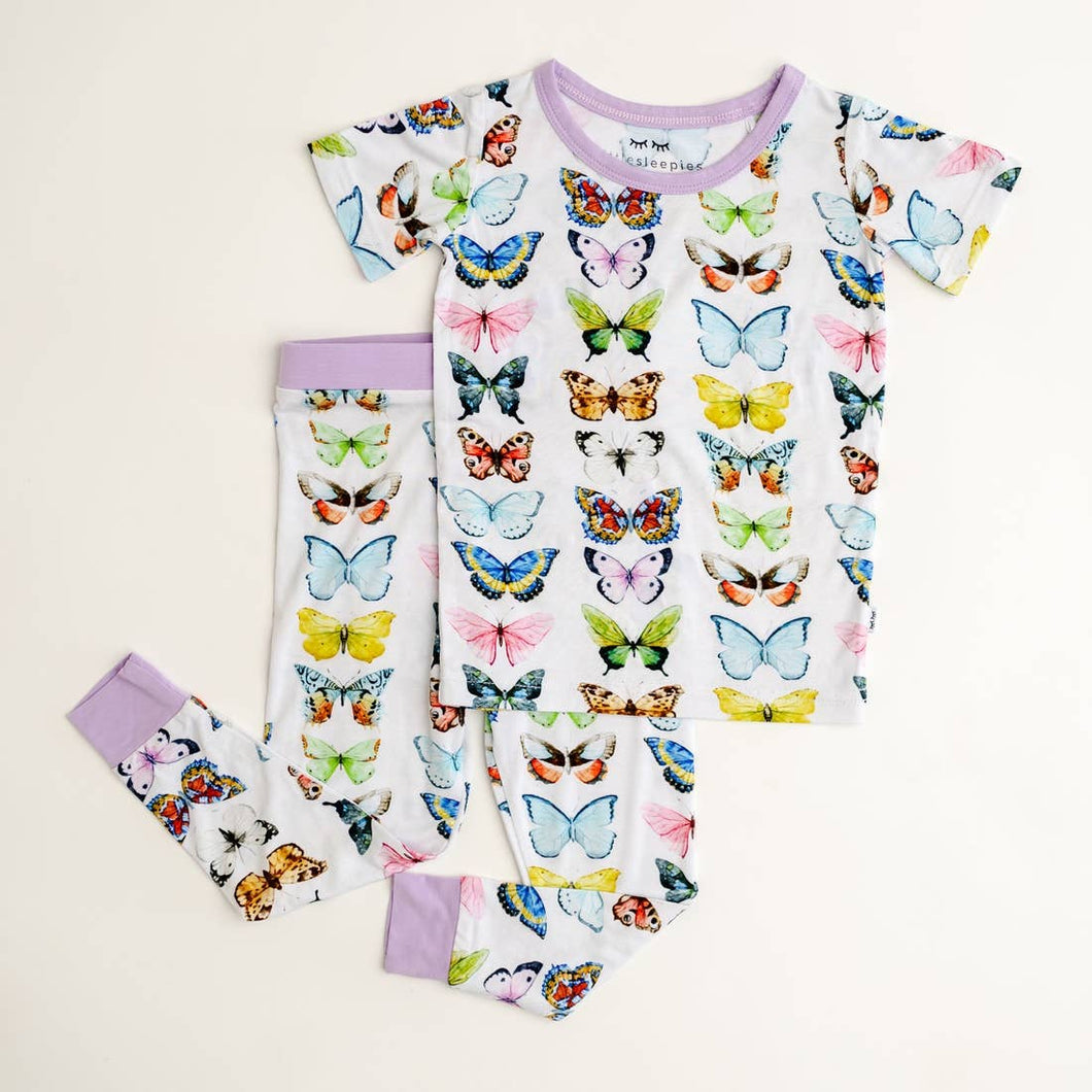 Butterflies Short Sleeve Two Piece PJ Set