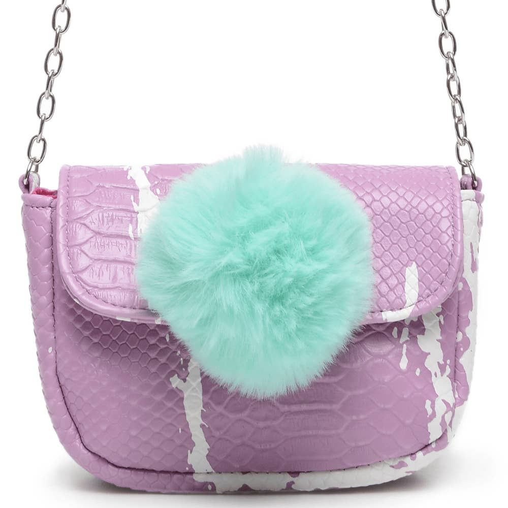 Purple & Turquoise Crossbody Purse