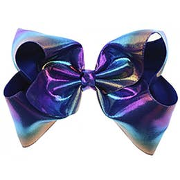 Super Star Sea Blue Large Mermaid Bow
