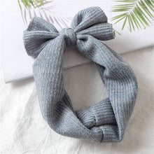 Load image into Gallery viewer, Blue Knot Sweater Headband