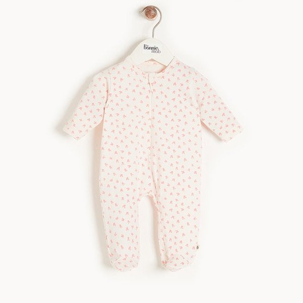 Pink Bunnies Zip Sleepsuit