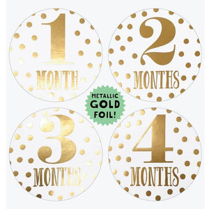 Little Diva Gold Foil Month Stickers
