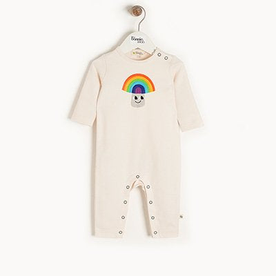 Rainbow Mushroom Applique Playsuit